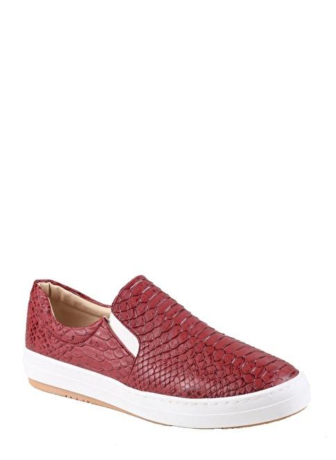 İnce Topuk Ayakkabı Bordo